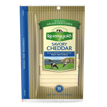 Savory Sliced Cheddar Cheese
